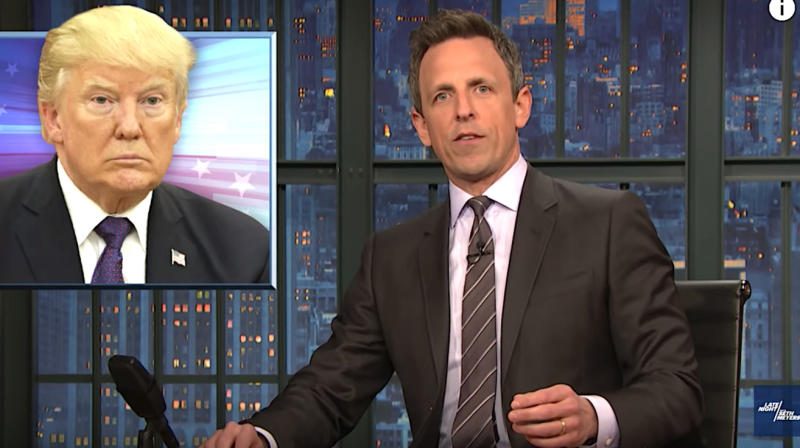 Seth Meyers: Who Are The Crying 'Big, Strong Guys' Thanking Donald Trump?