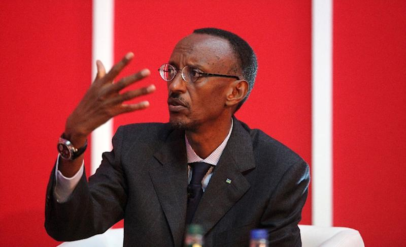President of Rwanda Paul Kagame has ruled Rwanda since his ethnic Tutsi rebel army ended a 1994 genocide by extremists from the Hutu majority, in which an estimated 800,000 people were massacred (AFP Photo/Shaun Curry)