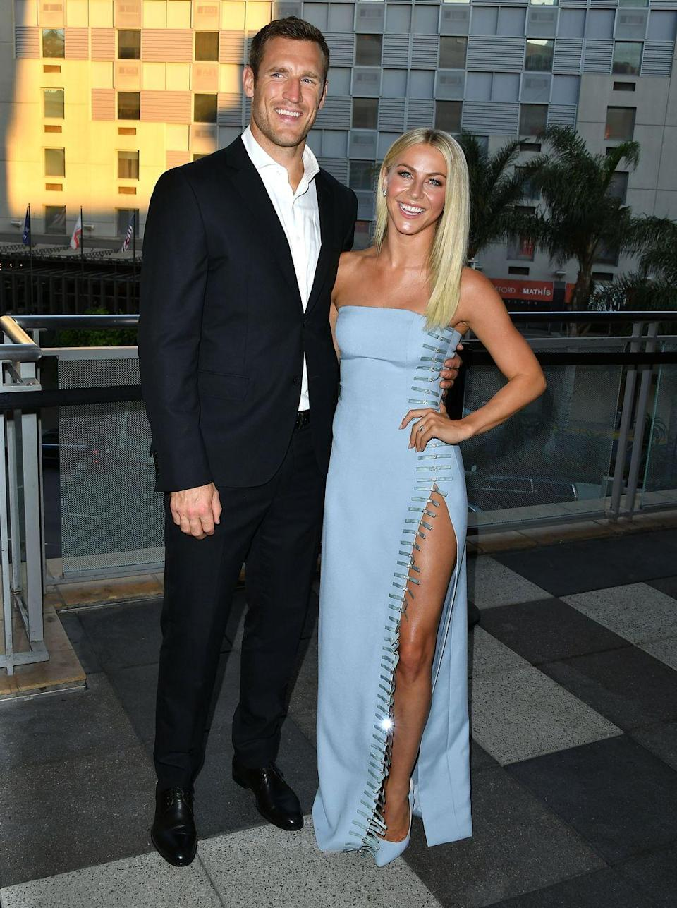 """<p>Everything in Julianne and Brooks' relationship seemed like smooth sailing until 2020 hit. <em><a href=""""https://people.com/tv/julianne-hough-brooks-laich-have-been-having-problems-marriage/"""" rel=""""nofollow noopener"""" target=""""_blank"""" data-ylk=""""slk:People"""" class=""""link rapid-noclick-resp"""">People</a></em> reported in early 2020 that """"they've been having problems for months,"""" because """"she's very independent and a free spirit, and that's been tough for Brooks and their marriage."""" </p><p>By May, <em><a href=""""https://people.com/tv/julianne-hough-brooks-laich-relationship-hasnt-changed/"""" rel=""""nofollow noopener"""" target=""""_blank"""" data-ylk=""""slk:People"""" class=""""link rapid-noclick-resp"""">People</a></em> revealed Brooks and Julianne were quarantining away from each other in separate states, but it didn't seem to be a big deal since they were already used to living """"separate lives."""" On May 29, they announced their breakup in a joint statement to <em><a href=""""https://www.cosmopolitan.com/entertainment/celebs/a30798719/julianne-hough-brooks-laich-divorce/"""" rel=""""nofollow noopener"""" target=""""_blank"""" data-ylk=""""slk:People"""" class=""""link rapid-noclick-resp"""">People</a></em>. <a href=""""https://www.usmagazine.com/celebrity-news/news/julianne-hough-files-for-divorce-from-brooks-laich-5-months-after-split/"""" rel=""""nofollow noopener"""" target=""""_blank"""" data-ylk=""""slk:Julianne filed for a dissolution of marriage"""" class=""""link rapid-noclick-resp"""">Julianne filed for a dissolution of marriage</a> in November. </p>"""