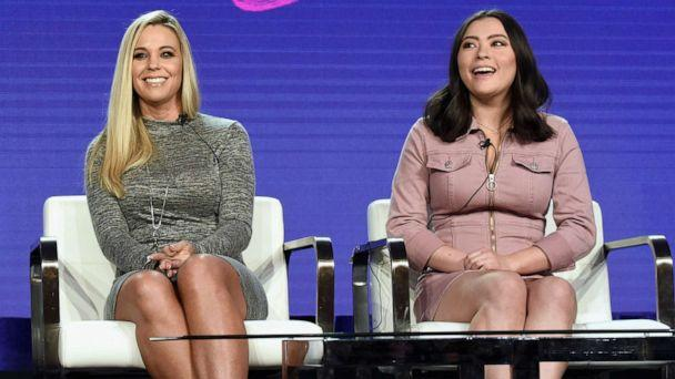 PHOTO: Cara Gosselin, Kate Gosselin and Mady Gosselin of 'Kate Plus Date' speak onstage during the TLC portion of the Discovery Communications Winter 2019 TCA Tour, Feb. 12, 2019, in Pasadena, Calif.  (Amanda Edwards/Getty Images for Discovery)