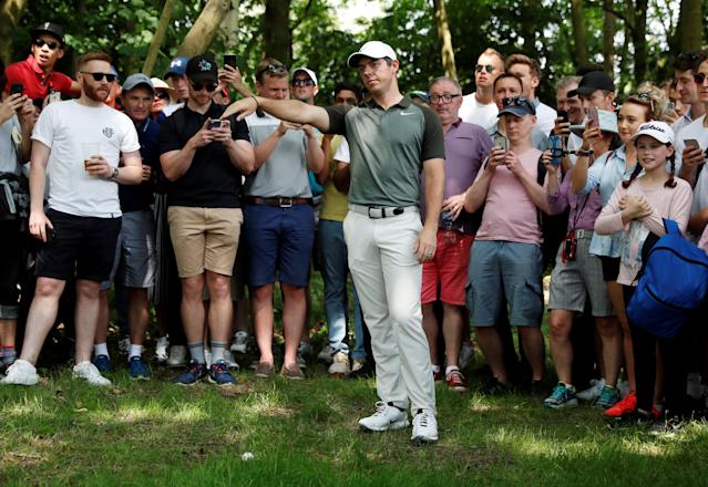 Golf - European Tour - BMW PGA Championship - Wentworth Club, Virginia Water, Britain - May 26, 2018 Northern Ireland's Rory McIlroy during the third round Action Images via Reuters/Paul Childs