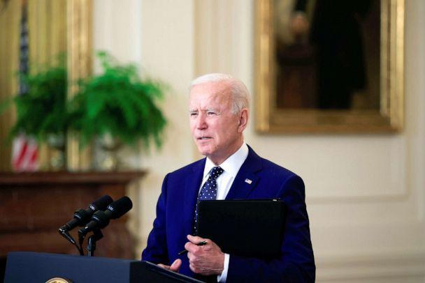 PHOTO: President Joe Biden delivers remarks on Russia in the East Room at the White House, April 15, 2021.  (Tom Brenner/Reuters)