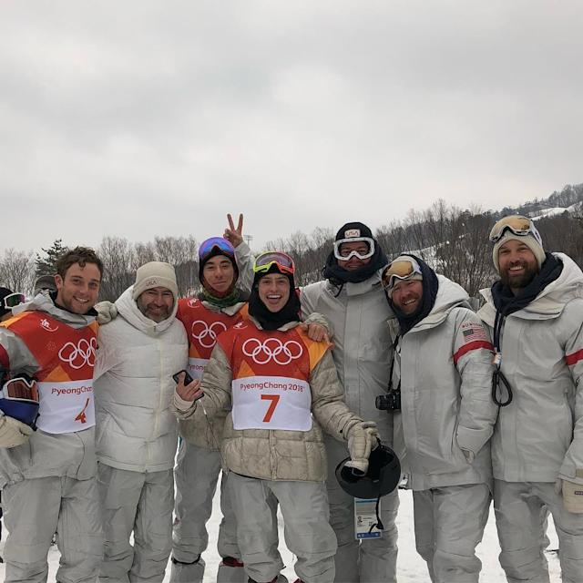 <p>jakepates: It's hard to find words to explain how much all of these people mean to me this is my crew and they are all legends, love you guys! It's been such a rad time at PyeongChang TAG YOUR FAVORITE HUMANS #pyeongchang2018 #olympics (Photo via Instagram/jakepates) </p>
