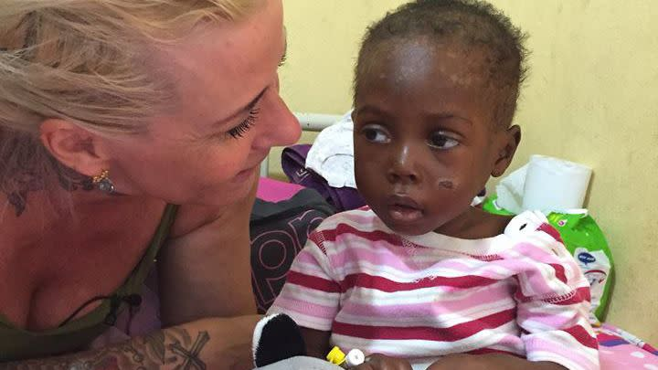 Anja has shared Hope's journey on her social media account, gaining support from hundreds of thousands of people worldwide. Photo: Anja Loven