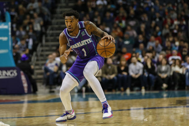 Hornets guard Malik Monk was suspended in February for violating the NBA's anti-drug program. (AP/Nell Redmond)