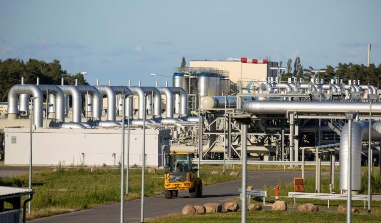 The Nord Stream 2 gas line landfall facility in Lubmin, northeastern Germany (AFP/Odd ANDERSEN)