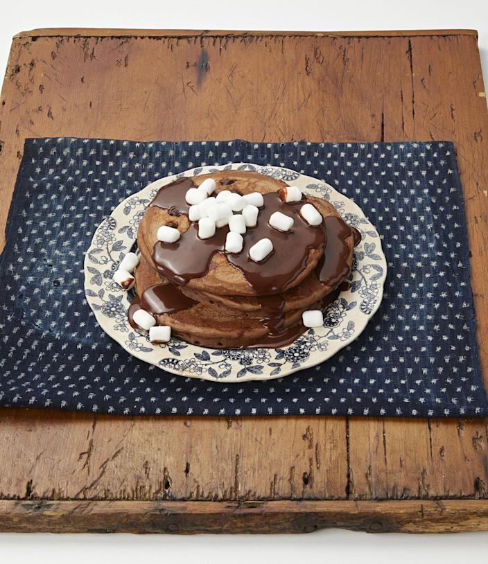 """<p>Is there any argument that pancakes are the best weekend breakfast? They're delicious, easy to churn out for a crowd, and when you add the best pancake toppings, they're a decadent way to start off the day! Ree Drummond knows this well, and she's made countless iterations of her <a href=""""https://www.thepioneerwoman.com/food-cooking/recipes/a11442/perfect-pancakes/"""" rel=""""nofollow noopener"""" target=""""_blank"""" data-ylk=""""slk:perfect pancakes"""" class=""""link rapid-noclick-resp"""">perfect pancakes</a> for groups of hungry kids and cowboys over the years. """"I happen to be obsessed with pancakes, and decided not to rest until I came up with the perfect pancake recipe,"""" she jokes. After she perfected the basic pancake, she also went on to create creative twists, like her <a href=""""https://www.thepioneerwoman.com/food-cooking/recipes/a10844/cornmeal-pancakes-with-blackberry-syrup/"""" rel=""""nofollow noopener"""" target=""""_blank"""" data-ylk=""""slk:cornmeal pancakes"""" class=""""link rapid-noclick-resp"""">cornmeal pancakes</a> and <a href=""""https://www.thepioneerwoman.com/food-cooking/recipes/a12049/wild-rice-pancakes/"""" rel=""""nofollow noopener"""" target=""""_blank"""" data-ylk=""""slk:wild rice pancakes"""" class=""""link rapid-noclick-resp"""">wild rice pancakes</a>. </p><p>Picking out a recipe and making the pancakes is the easy part—it's choosing how to top them that's tricky! You can always reach for the classic butter-and-syrup combo, but there are so many more sauces and fruits to explore that go great with a short stack. Why settle for boring? No matter whether you're more of a <a href=""""https://www.thepioneerwoman.com/food-cooking/recipes/a80943/hot-chocolate-pancakes/"""" rel=""""nofollow noopener"""" target=""""_blank"""" data-ylk=""""slk:sweet pancake"""" class=""""link rapid-noclick-resp"""">sweet pancake</a> toppings person, a savory toppings person, or you like a little bit of both, the best pancake toppings are sure to turn any plain ol' flapjacks into an unforgettable breakfast. So grab your spatula, throw some butter in your pan, and d"""