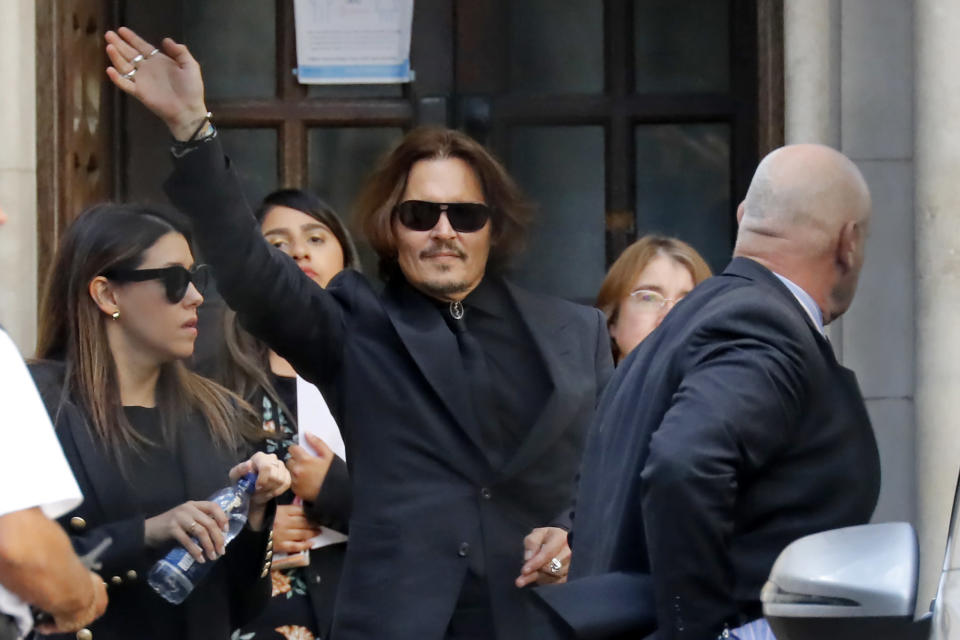 Johnny Depp leaves court on July 20, 2020. (Photo: Getty Images)