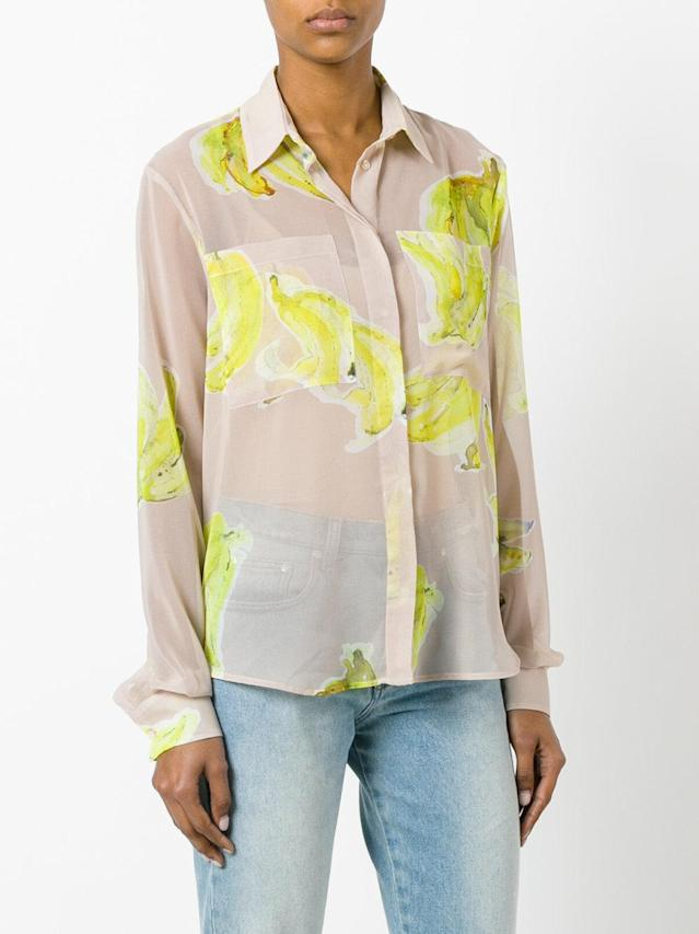 "<p>MSGM Banana Print Sheer Shirt, $265, <a href=""https://www.polyvore.com/msgm_banana_print_sheer_shirt/thing?id=202869166"" rel=""nofollow noopener"" target=""_blank"" data-ylk=""slk:farfetch.com"" class=""link rapid-noclick-resp"">farfetch.com</a><br><br></p>"