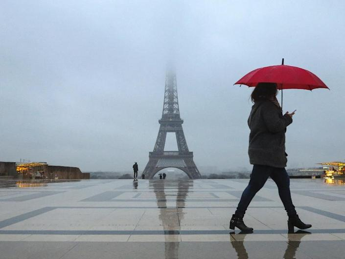 """""""The terror threat remains high in Paris, and the most vulnerable sites, starting with the Eiffel Tower, must be the object of special security measures,"""" deputy mayor Jean-Francois Martins told a press conference (AFP Photo/Ludovic MARIN)"""