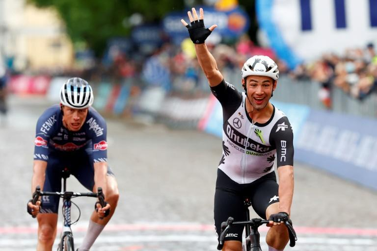 Belgian Victor Campenaerts claimed his first Grand Tour stage win