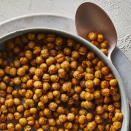 <p>Air-fried chickpea snacks are intensely flavored and incredibly crunchy. Drying the chickpeas is essential to a good crunch, so don't skip this step. If you have time, leave them out on the counter to dry for an hour or two before frying.</p>