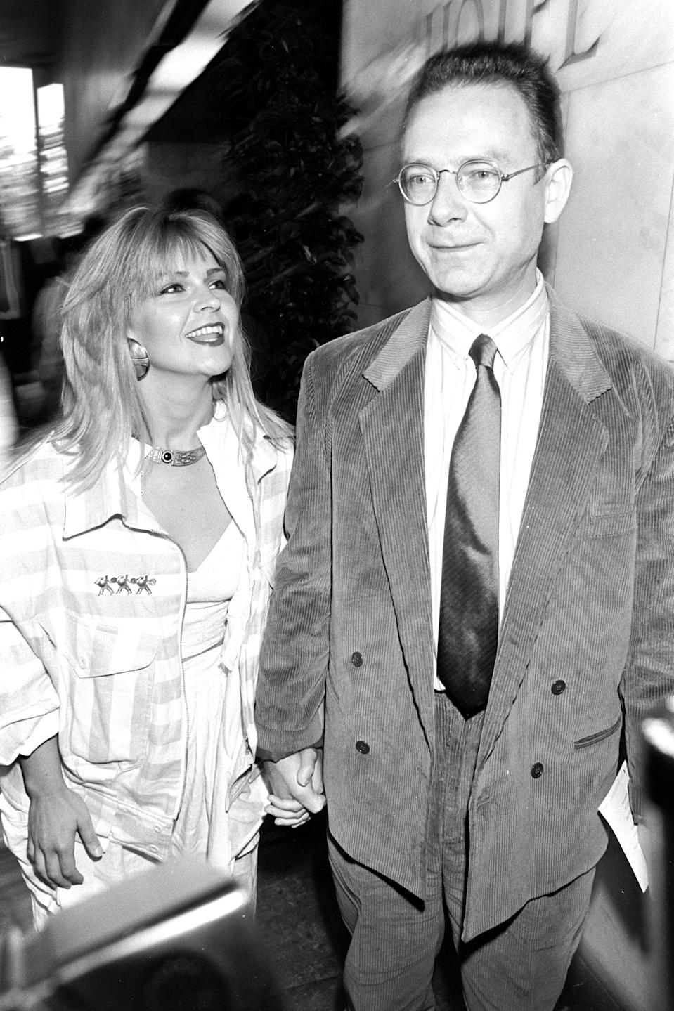 Toyah Willcox and Husband Robert Fripp during the Ivor Novello Awards, 15th April 1987 (Photo by Dave Hogan/Hulton Archive/Getty Images)