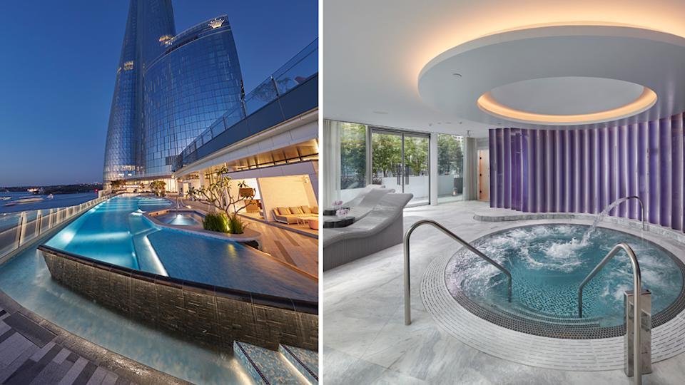 Crown Spa Sydney and pool