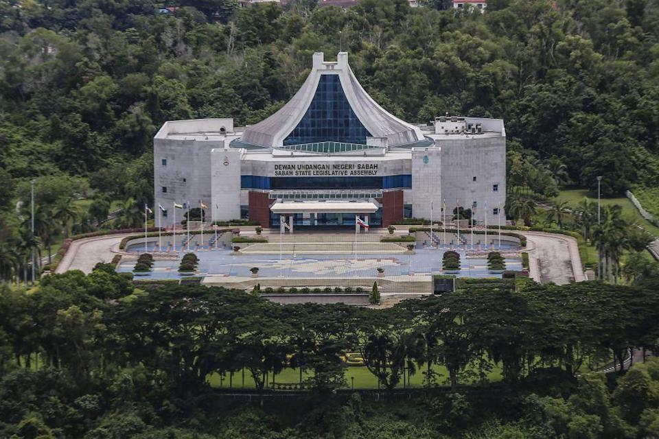 A general view of the Sabah State Legislative Assembly Building in Kota Kinabalu September 30, 2020. — Picture by Firdaus Latif