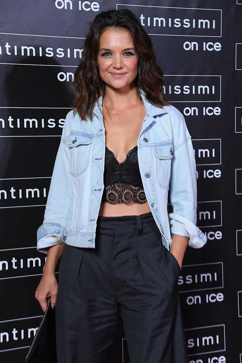 Katie Holmes attends Intimissimi On Ice on Oct. 6, 2017 in Verona, Italy.