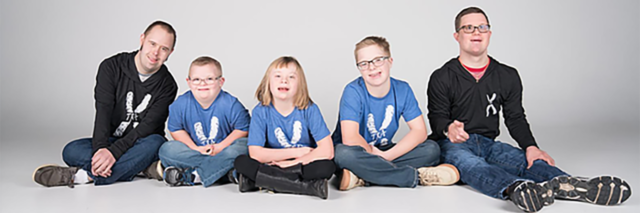 People with Down syndrome modeling Xtra Apparel.