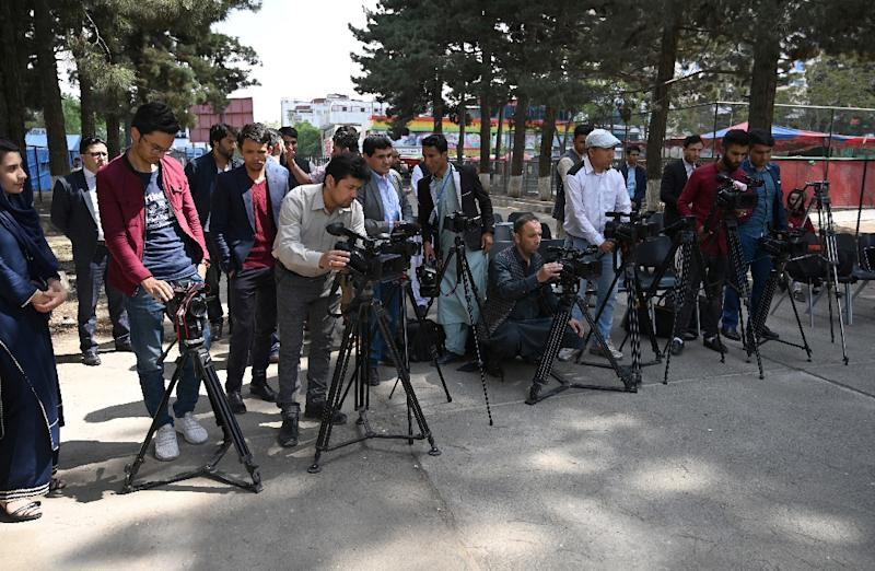 While in power, the Taliban raged against traditional forms of mass communication and entertainment, banning television, movies and allowing only Islamist programming or propaganda to be broadcast on the only radio station, Voice of Sharia (AFP Photo/WAKIL KOHSAR)