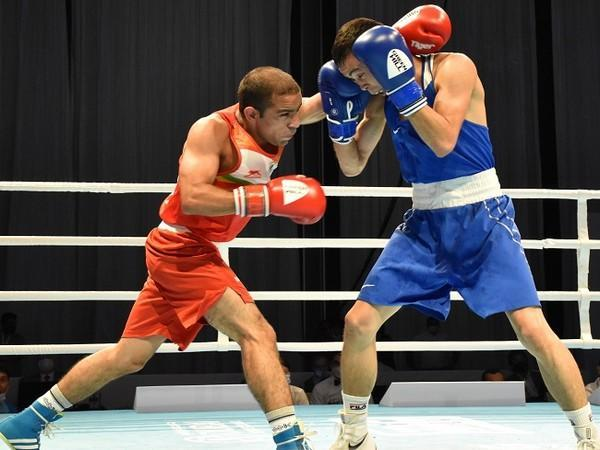 Amit Panghal (52 kg) in action during his semi final bout  (Image: BFI)