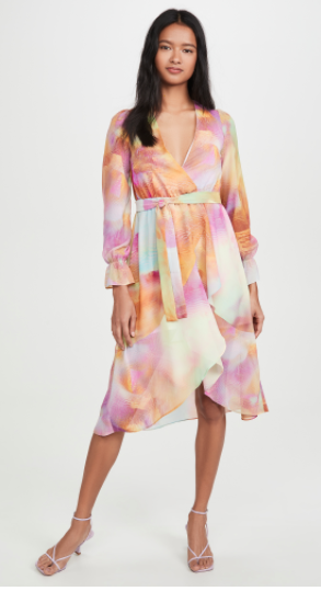 Kendall + Kylie front wrap duster dress, SGD107.04 (was SGD178.41). PHOTO: shopbop