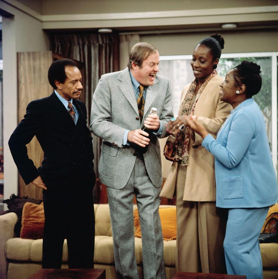 """<p>Just mention the show title of this <em>All in the Family</em> spin-off, and it's almost impossible not to think of the """"Movin' on Up"""" theme song and George yelling at Weezy. While this show that featured successful Black Americans was groundbreaking, George Jefferson in some ways was almost as bigoted as his rival Archie Bunker. In today's climate, the outspoken George would be much more toned down...just look at the milder current CBS comedy <em>The Neighborhood</em> as an example. </p>"""