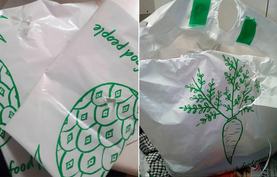 "Woolworths shoppers switching to the 15c reusable plastic bags have voiced their anger at the retail giant for ""useless"" bags that reportedly break and tear after one use. Source: Sharon Linsley‎, Trace Stephens‎ / Facebook"
