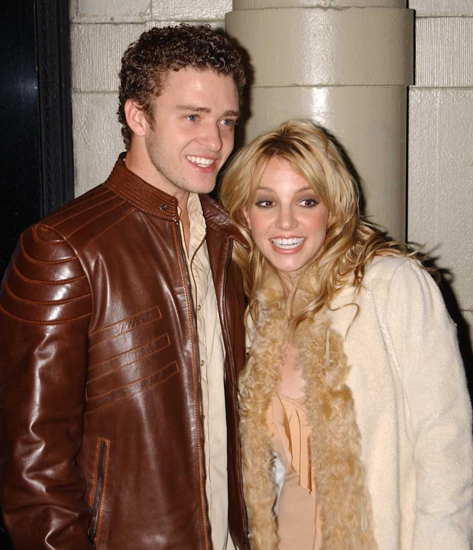 Justin Timberlake and Britney Spears in 2001 (Photo: Arnaldo Magnani via Getty Images)