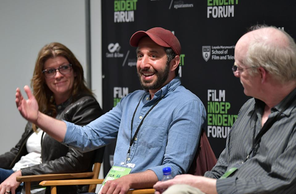 Skye Borgman, Ben Berman, and Robert McFalls speak at the Film Independent Forum on April 27, 2019. (Photo by Amy Sussman/Getty Images)
