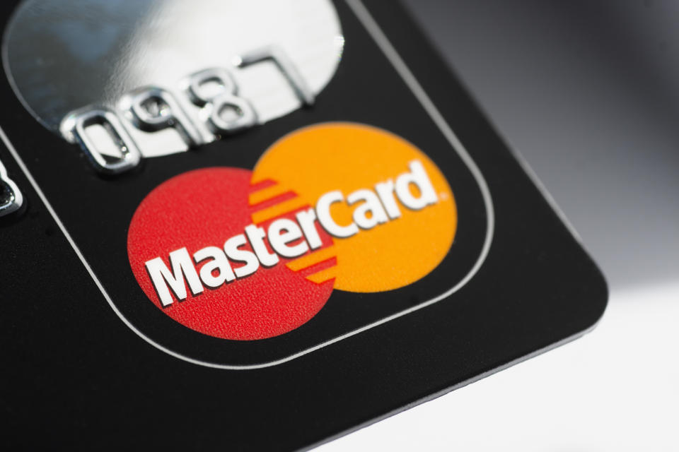 'Muenster, Germany - April 9, 2011: A close up macro shot of a Mastercard credit card. Mastercard is one of the biggest credit card companies in the world.'
