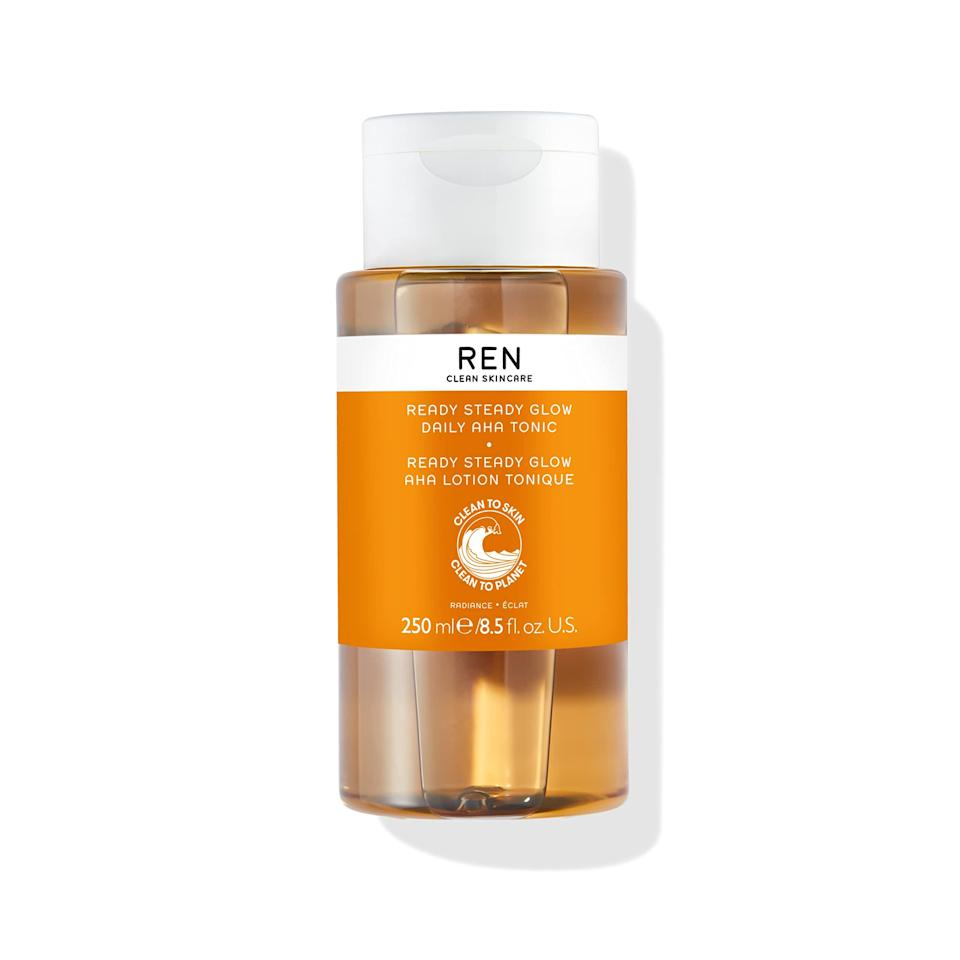 """<h2>REN Skincare</h2><br>Up to 30% off select products<br><br><strong>REN Skincare</strong> Glow Tonic, $, available at <a href=""""https://amzn.to/3wQLI90"""" rel=""""nofollow noopener"""" target=""""_blank"""" data-ylk=""""slk:Amazon"""" class=""""link rapid-noclick-resp"""">Amazon</a>"""