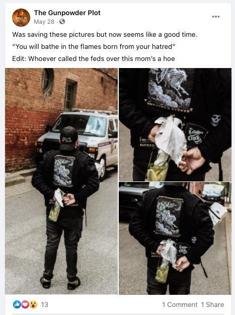 Images posted on The Gunpowder Plot's Facebook page led to a federal charge against the band's bassist.  (Photo: The Gunpowder Plot/Facebook)
