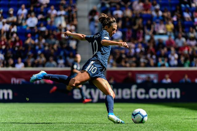 "USWNT star <a class=""link rapid-noclick-resp"" href=""/olympics/rio-2016/a/1124307/"" data-ylk=""slk:Carli Lloyd"">Carli Lloyd</a> and Sky Blue FC have a new home in Red Bull Arena. (Howard Smith/ISI Photos/Getty Images)"