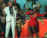 """<p>Jazz legend Tony Bennett in a white suit joined a sequin-clad Patti LaBelle in 1995.</p><p><a class=""""link rapid-noclick-resp"""" href=""""https://www.youtube.com/watch?v=wjXSqaSmhh4&ab_channel=MoedredTV"""" rel=""""nofollow noopener"""" target=""""_blank"""" data-ylk=""""slk:WATCH NOW"""">WATCH NOW </a></p>"""
