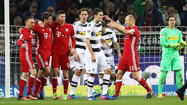 Bayern Munich beat Borussia Monchengladbach 1-0 courtesy of a second-half strike from Thomas Muller to tighten their grip on the Bundesliga.