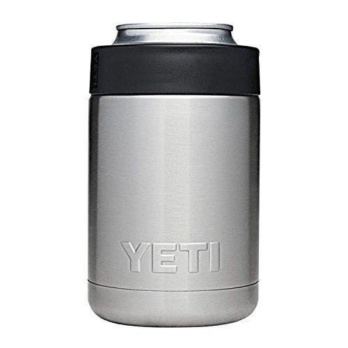 """<p><strong>YETI</strong></p><p>amazon.com</p><p><strong>$18.74</strong></p><p><a href=""""https://www.amazon.com/dp/B01LA7ABYG?tag=syn-yahoo-20&ascsubtag=%5Bartid%7C2140.g.27889813%5Bsrc%7Cyahoo-us"""" rel=""""nofollow noopener"""" target=""""_blank"""" data-ylk=""""slk:Shop Now"""" class=""""link rapid-noclick-resp"""">Shop Now</a></p><p>Made from stainless steel, this can and bottle holder will keep Dad's favorite beverages cold and crisp for hours. It's perfect for an afternoon in the backyard or a weekend hike.</p>"""