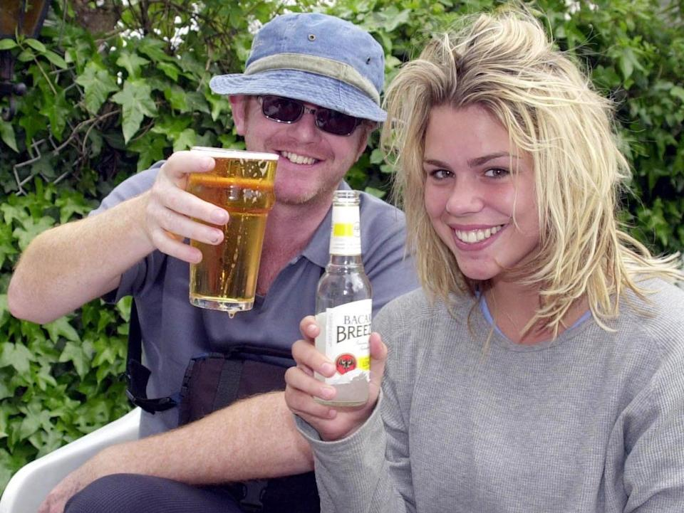 Chris Evans and Billie Piper shortly after their wedding in Las Vegas (Rex Features)