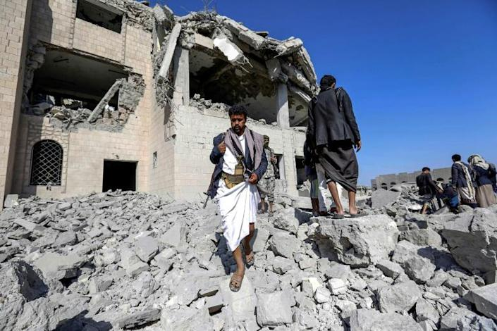 The International Committee of the Red Cross says the building targeted in a Saudi-led air strike was a prison (AFP Photo/-)