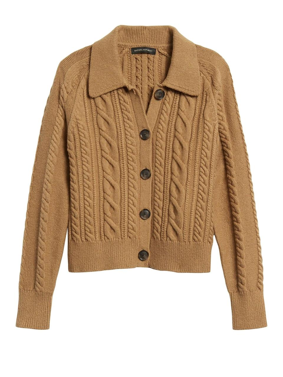 <p>This <span>Heritage Cable-Knit Cardigan Sweater</span> ($129) is high on my wish list. Anyone else?</p>