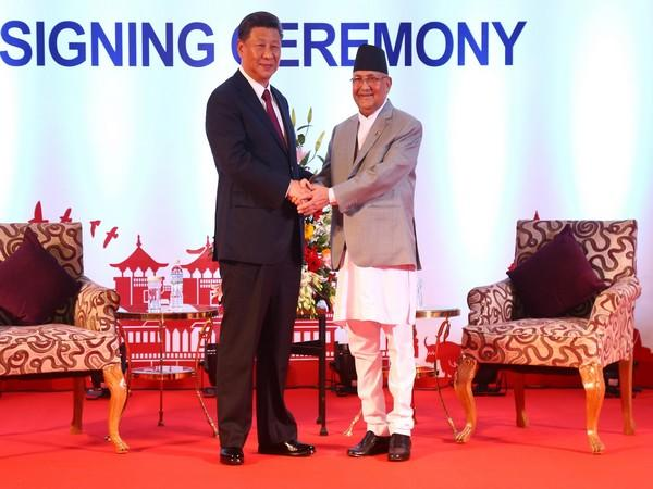 Chinese President Xi Jinping and Nepal Prime Minister KP Sharma Oli