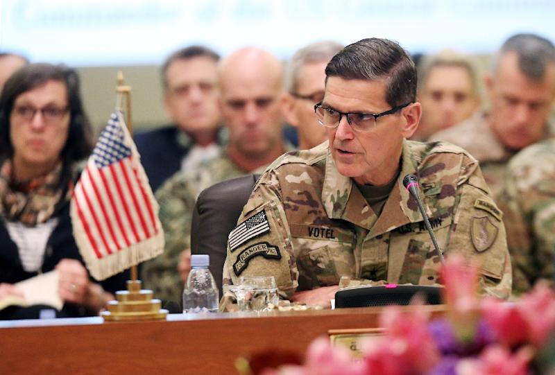 The head of US Central Command, General Joseph Votel, urges feuding Gulf Arab states to put aside their differences and unite against what he says are Iranian efforts to destabilise the region