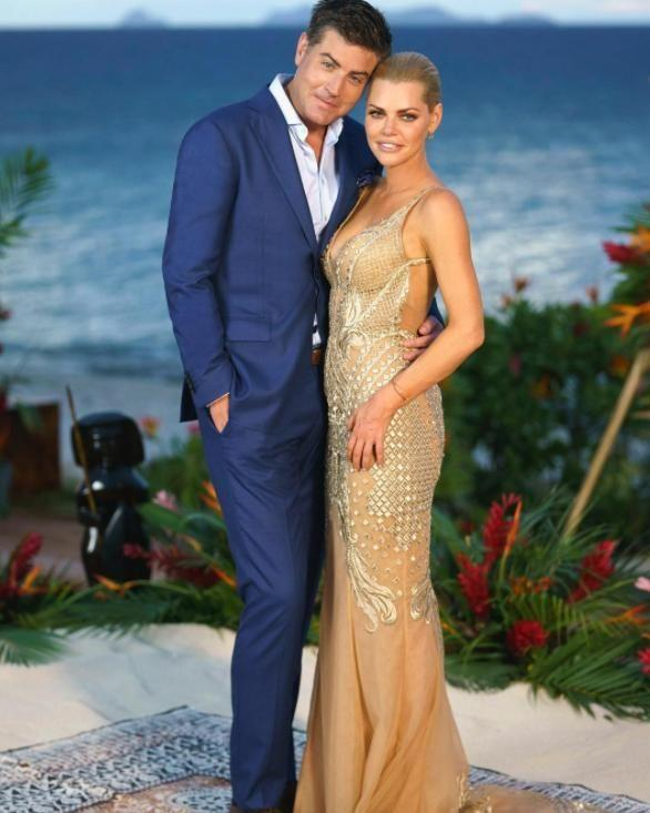 Both Sophie and Stu posted this photo on social media to declare their love for one another following the Bachelorette finale. Source: Channel 10