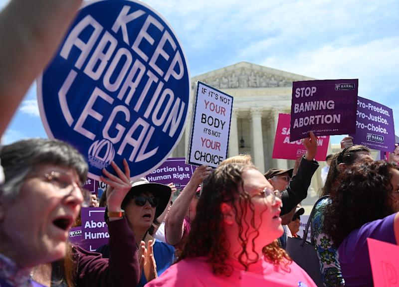 Scores of US business leaders have joined the effort to keep abortion legal in the face of bans imposed in several states (AFP Photo/Andrew Caballero-Reynolds)