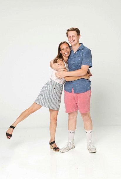 PHOTO: Gabriel Dick pictured with his mother Jenna Jacobs McPartland in 2021. (ABC)