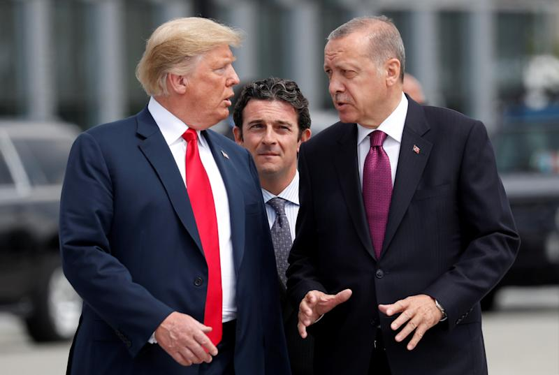 Erdogan tells Turks to buy crumbling lira as Trump turns the screws