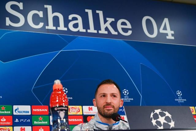 Domenico Tedesco is under intense pressure as head coach of Schalke after his side were smashed 4-0 at home to Fortuna Duesseldorf (AFP Photo/Patrik STOLLARZ)