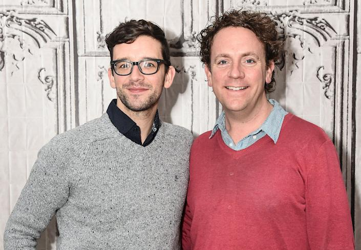 """Droege (right) with longtime collaboratorMichael Urie, who co-produced """"Happy Birthday Doug."""" (Photo: Daniel Zuchnik via Getty Images)"""