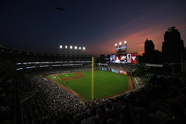 General view of Progressive Field during the 90th MLB All-Star Game at Progressive Field on Tuesday, July 9, 2019 in Cleveland, Ohio. (Photo by Rob Tringali/MLB Photos via Getty Images)