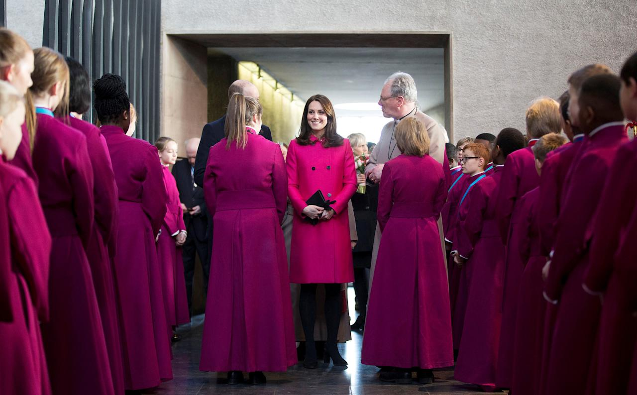 Britain's Prince William, and Catherine, Duchess of Cambridge visit Coventry Cathedral January 16, 2018. REUTERS/Heathcliff O'Malley/Pool     TPX IMAGES OF THE DAY