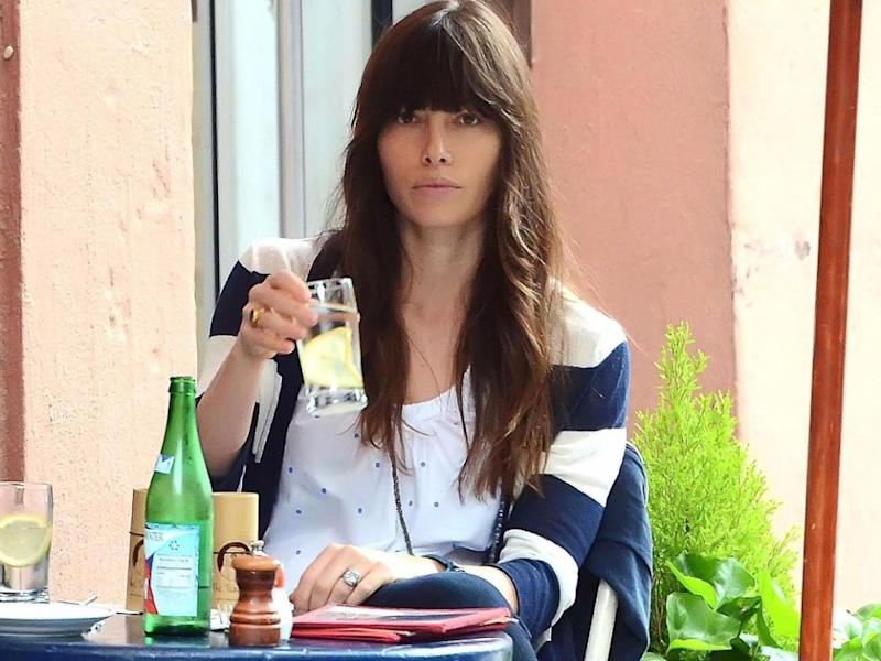 Jessica Biel, pictured here at a cafe in 2012, is reportedly being sued by 11 former employees over claims the restaurant staff never received their tips. Source: Getty