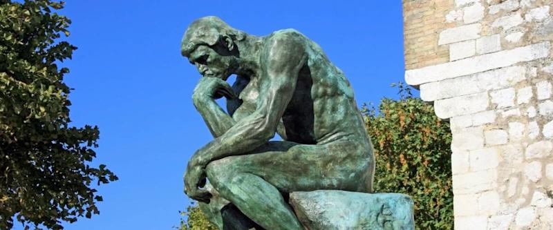 The Thinker sculpture by Rodin